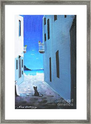 Framed Print featuring the painting Contemplating by S G