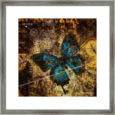 Contemplating The Butterfly Effect  Framed Print
