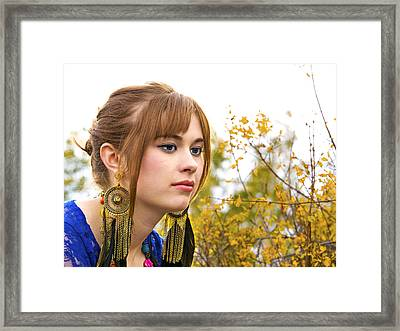 Contemplating The Changing Season Framed Print by DJ Haimerl
