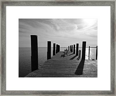 Contemplating The Chesapeake Framed Print