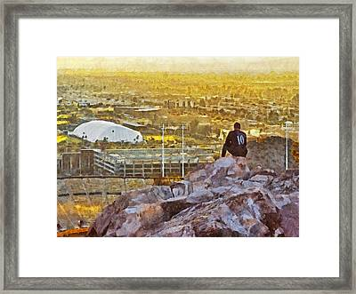 Contemplating The Day To Come Framed Print