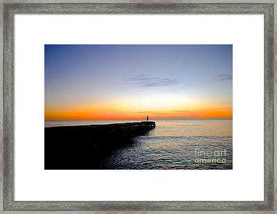 Contemplating The Meaning Of Life Framed Print by Margie Amberge