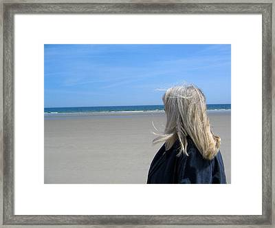 Contemplating The Stillness Framed Print