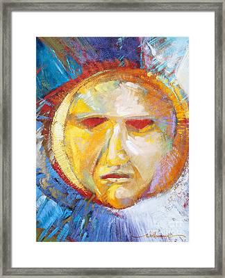 Contemplating The Sun Framed Print