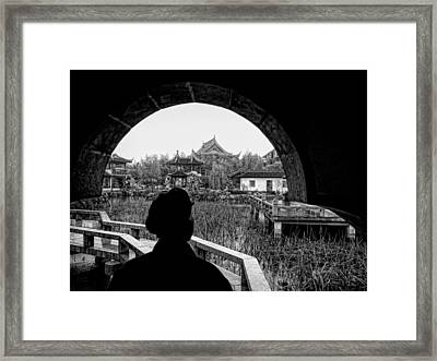 Contemplating The View Framed Print