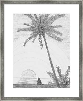 Contemplation At The Beach Framed Print