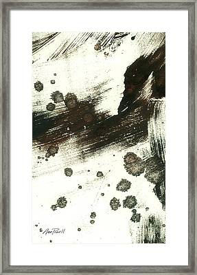 Contemplation In Black And White Abstract Art Framed Print by Ann Powell