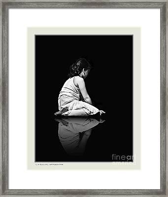 Contemplation In Dark Framed Print