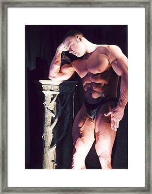 Contemplation Of Hercules Framed Print by Jake Hartz