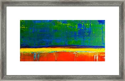 Contemplation Framed Print by Tanya Lozano Abstract Expressionism