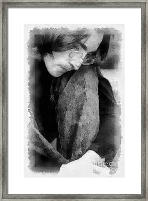 Contemplative John Framed Print by Paulette B Wright