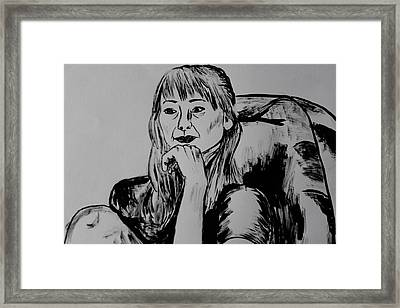 Contemplative Framed Print