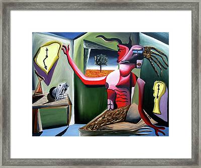 Contemplifluxuation Framed Print by Ryan Demaree