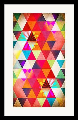 Geometric Digital Art Framed Prints