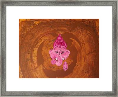 Contemporary Abstract Ganesh Painting Framed Print
