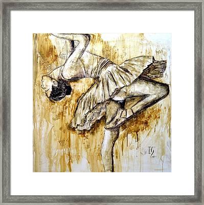 Ballerina Framed Print by Ivan Guaderrama