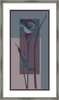 contemporary calla Lily  Framed Print