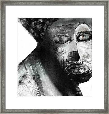 Contemporary Clown Framed Print by Rc Rcd