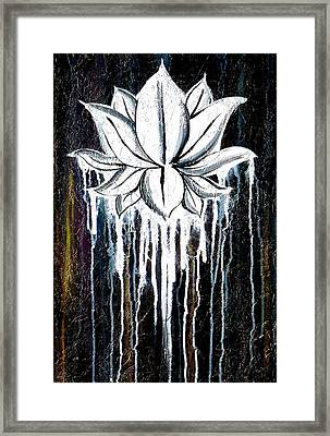 Contemporary Lotus Flower  Framed Print