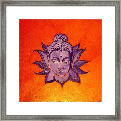 Contemporary Original Orange Chakra Sacral Swadhisthana Framed Print