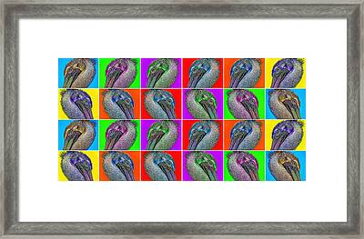 Contemporary Pelicans II Framed Print by Betsy Knapp