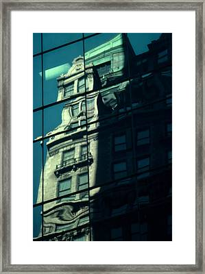 Framed Print featuring the photograph Contemporary Reflects The Past by Ben Kotyuk
