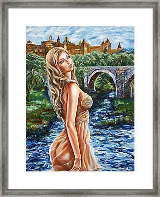 Contessa De Carcassonne Framed Print