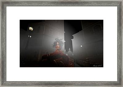 Contessa Vampiro Fuggire L'alba - Flee The Dawn Framed Print by Amanda Holmes Tzafrir