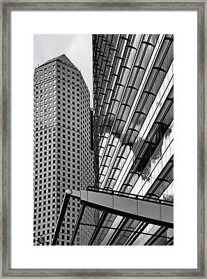 Continental Center I Houston Tx Framed Print
