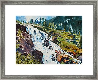 Continental Falls Framed Print