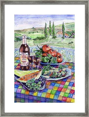 Continental Picnic Framed Print by Madeline Moore