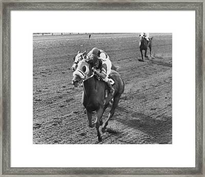 Continous Count Horse Racing Framed Print by Retro Images Archive