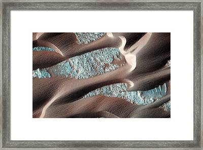 Continual Dune And Ripple Migration In Nili Patera Mars Framed Print by Celestial Images