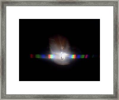 Continuous Spectrum Caused By White Light Framed Print