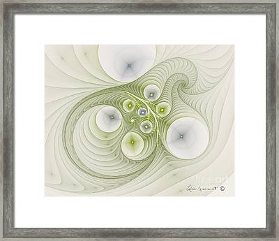 Continuous Spiral Framed Print by Leona Arsenault