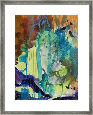 Framed Print featuring the painting Continuum by Robin Maria Pedrero