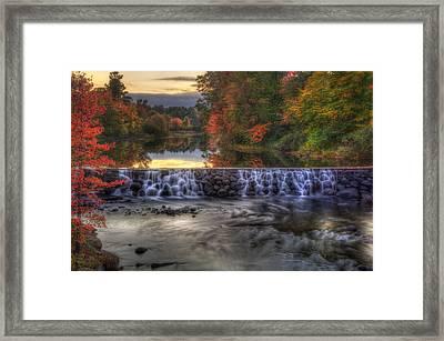 Contoocook River Reservoir  Framed Print
