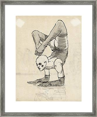 Contortionist Framed Print by H James Hoff
