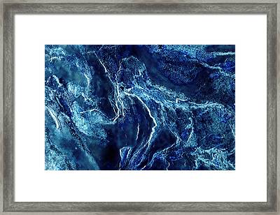 Contours 093 Abstract Framed Print by Natalie Kinnear