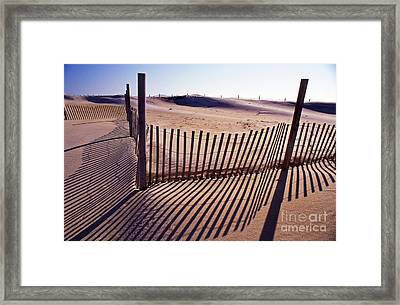 Contours And Shadows Framed Print by Skip Willits