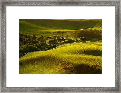 Contours Of The Palouse Framed Print