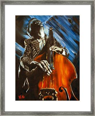 Contra-bass Framed Print
