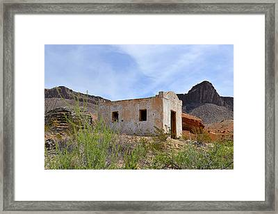 Contrabando Movie Set Framed Print by Christine Till