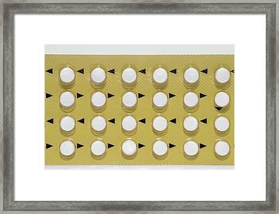 Contraceptive Mini Pills Framed Print by Dr P. Marazzi