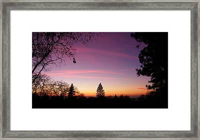 Contrail Streaks Framed Print by Tom Mansfield