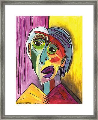 Contrary Woman Framed Print by Anna Kaszupski