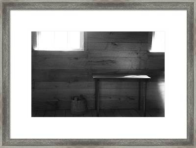 Contrast Composition Framed Print