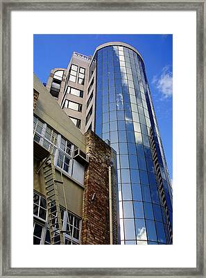 Contrast In Architecture Framed Print by Linda Phelps