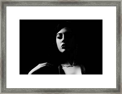 Contrast Framed Print by Lesley Rigg