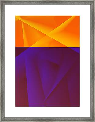 Contrast Framed Print by Yan Ted